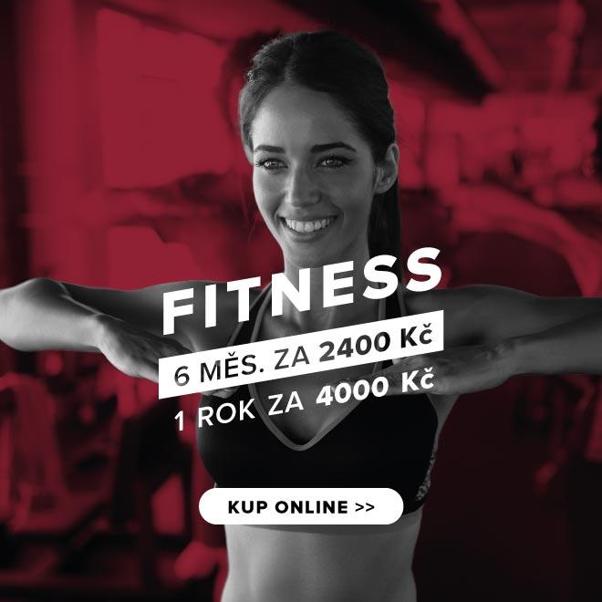Fitness 6 měsíců za 2400 Kč nebo 1 rok za 4000 Kč. KUP ONLINE >>